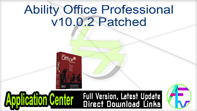 Ability Office Professional v10.0.2 Patched