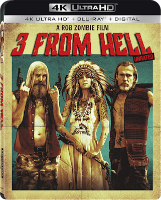 4K ULTRA HD Blu-ray cover for Rob Zombie's 3 FROM HELL!