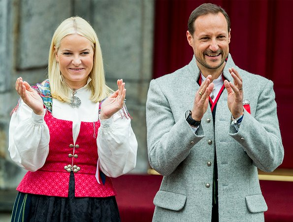 Crown Prince Haakon, Crown Princess Mette-Marit, Princess Ingrid Alexandra and Prince Sverre Magnus attended the Children's Parade