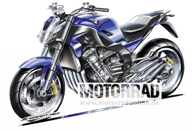 BMW Motorrad rendering superbike, 6-cylinder 160 horsepower