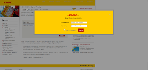 DHL scama page - olux shop