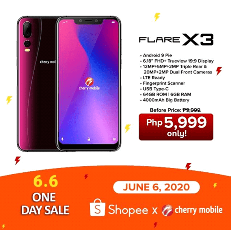 Sale banner of Flare X3 on Shopee