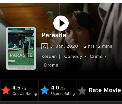 Top Hollywood Movies 2020 -- Parasite