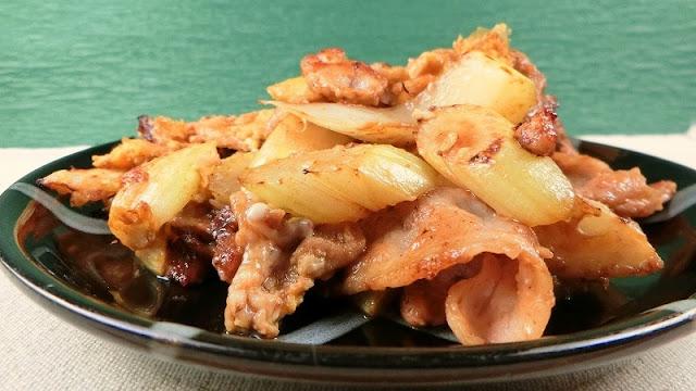 セルリーと豚肉の三唐漬炒めのレシピ