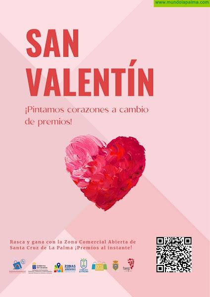El Casco Histórico crea por San Valentín una campaña de premios directos como impulso de las ventas en la ZCA de Santa Cruz de La Palma