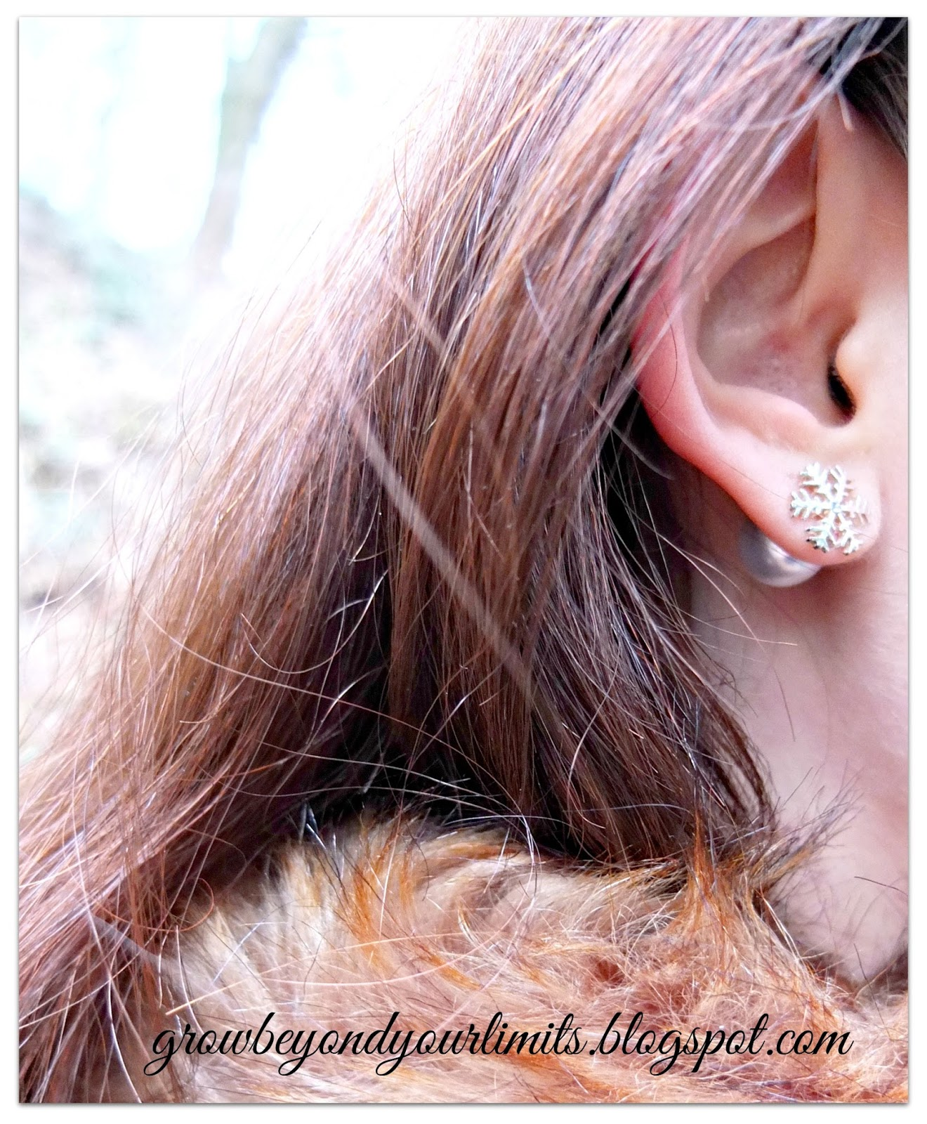 How to grow healthy  long and beautiful hair  Holistic and Natural     Pearl and Snowflake Earrings  Have been a favourite this whole winter  I  think snowflakes have such delicacy to them   very lovely and simple