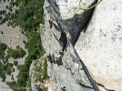 multi pitch rock climb