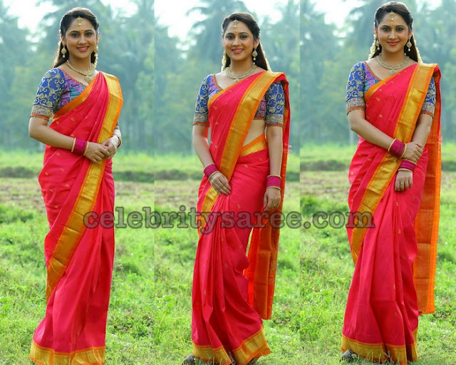 Mia George Traditional Saree