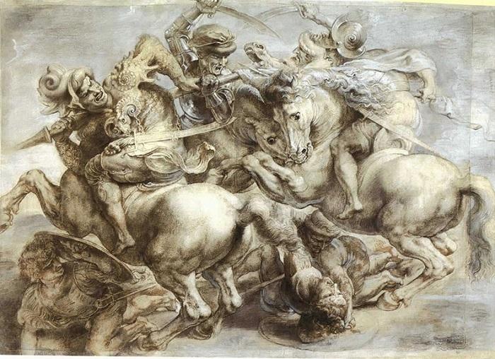 Битва при Ангиари-1505г. Это потерянная картина Леонардо да Винчи