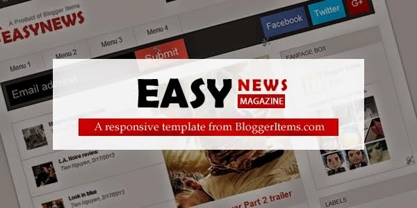 Easy News – Free Responsive Newspaper Blogger Template
