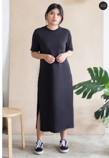 model dress kaos t-shirt dress wanita terbaru 2021
