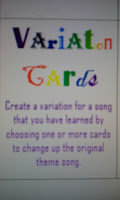 Variation Cards Piano Teaching Theme and Variation Game