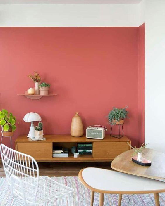 Amazing Red Apartment Living Room