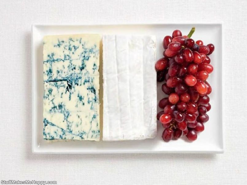 11. France - blue cheese, Bree cheese, grapes