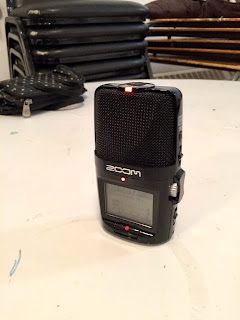 Our little recording device gets all our choral mistakes for posterity