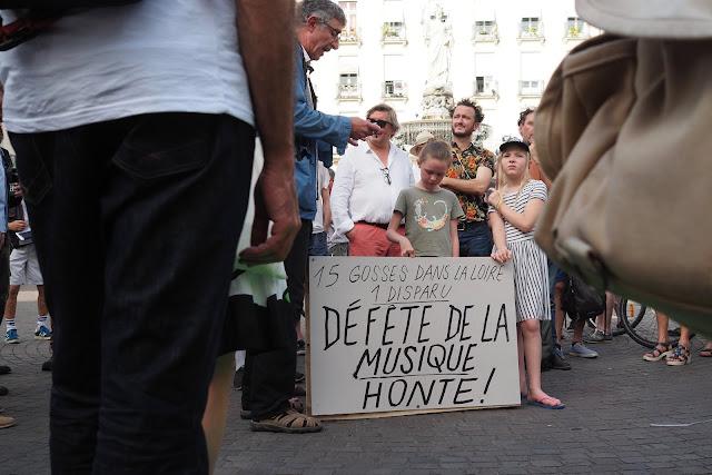 Fête de la musique, la Police à Nantes