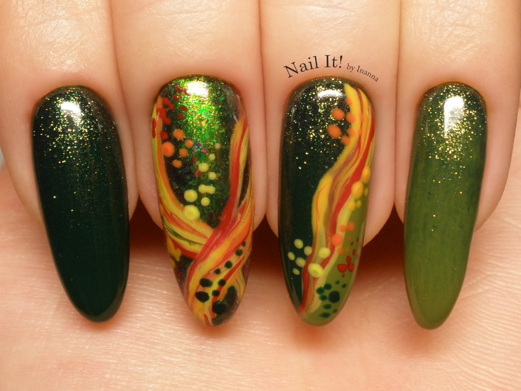 Fantasy Abstract Spring Nail Art