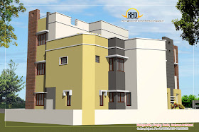 3 Story House Plan and Elevation- 327 Sq M (3521 Sq. Ft.) - February 2012