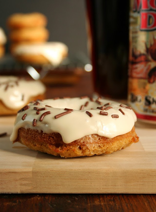 Moose Drool Beer Donuts with Brown Ale Icing