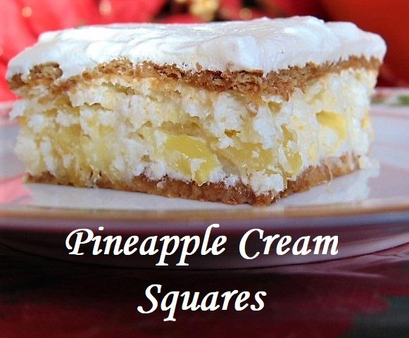 Pineapple Cream Squares