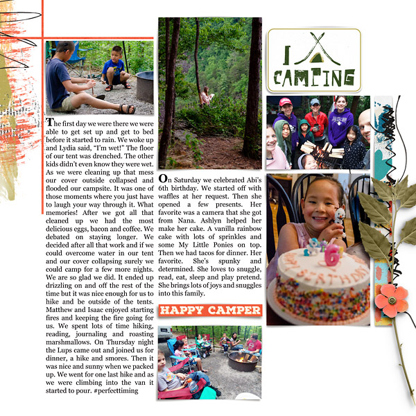 Camping: Digital Scrapbook Page {right}