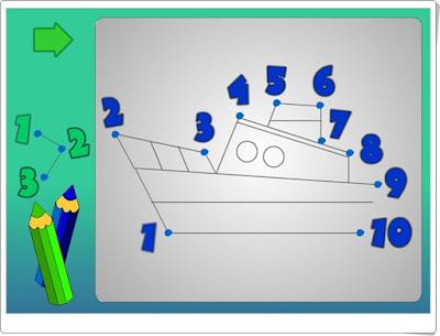 """""""Une los puntos"""" (Juego de Matemáticas de Infantil)"""