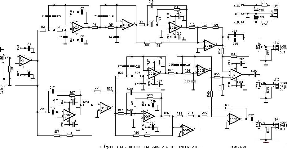 Simple 3 Way Active Crossover Circuit Diagram Supreem