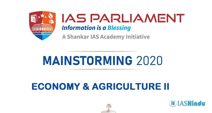 UPSC CSE Mains 2020 Environment Agriculture II