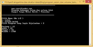 program void volume balok