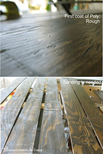 rough planks of plywood and sanded planks of plywood