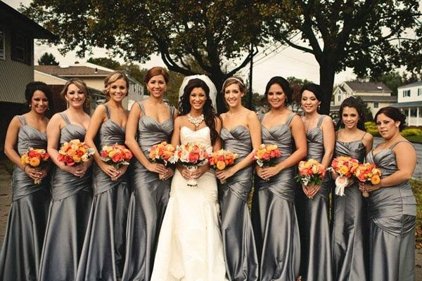 Wedding Dresses Ideas About Silver Bridesmaid