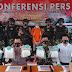 Konferensi Pers Penangkapan Sabu 7 Kilogram Oleh Satgas Pamtas Yonif 623/BWU