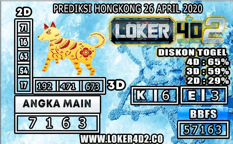 PREDIKSI TOGEL HONGKONG LOKER4D2 26 APRIL 2020