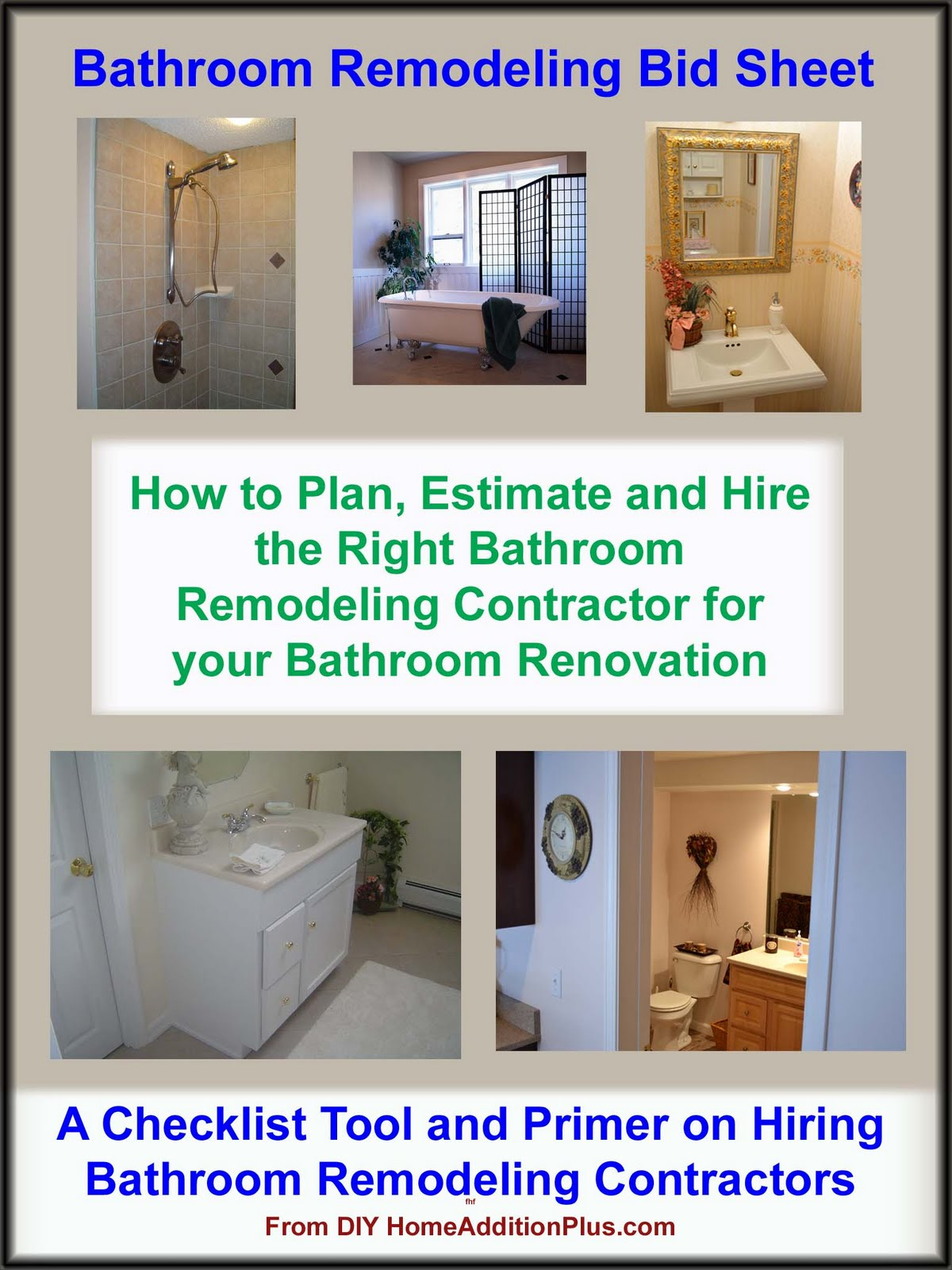 Home Addition Finding a Bathroom Remodeler  Home
