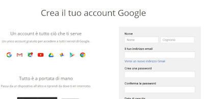 account senza gmail