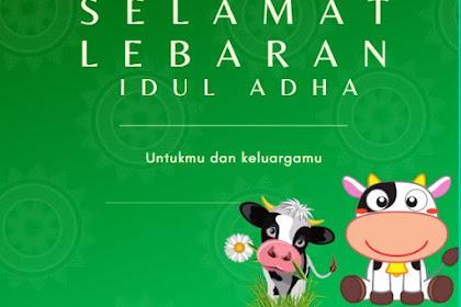 Sederetan Ucapan Selamat Hari Raya Lebaran Idul Adha 1441 h/2020, Lebaran Haji Mantap dibagikan di WA, IG, dan FB