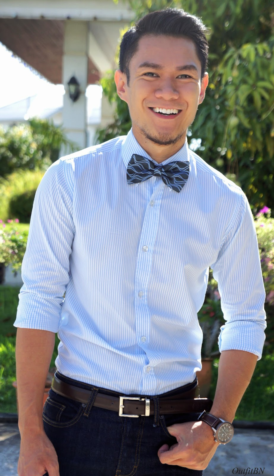 Outfit BN: Another bow tie look.