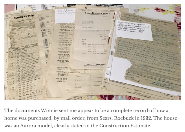 Trotwood Ohio Hartzell family's purchase of a Sears house in 1932--paperwork