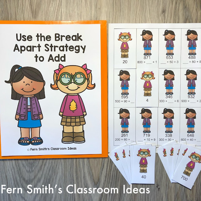 """Lessons For Teaching """"Use the Break Apart Strategy to Add"""""""