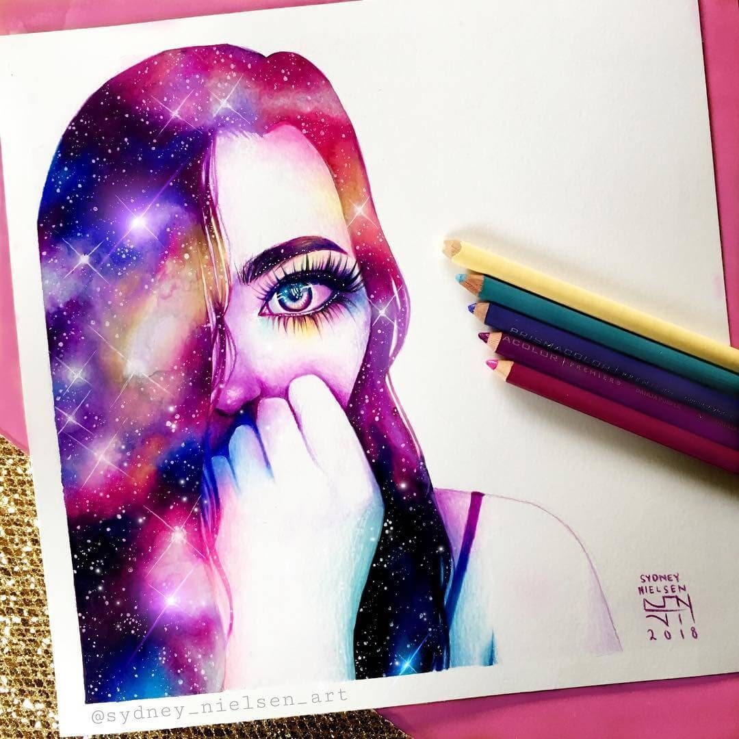 06-Galaxy-Girl-Sydney-Nielsen-How-Colors-Change-the-Portraits-you-Draw-www-designstack-co