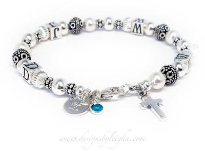WWJD Birthstone Bracelets