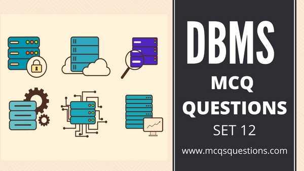 dbms mcq online test set 12