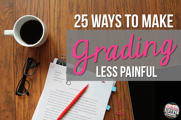 I think we can all agree that grading is one of the most disliked aspects of the teaching career field. It's tedious, monotonous, and time-consuming. Therefore, I wrote up this blog post, which shares 25 ways to make grading less painful! Click through and read it - I know you want to!