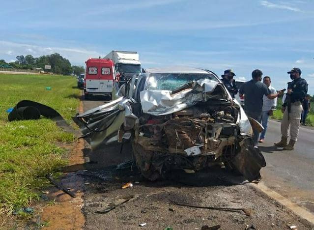 Corpo de Bombeiros atuou no resgate ás vitimas do trágico acidente em Luis Eduardo Magalhães