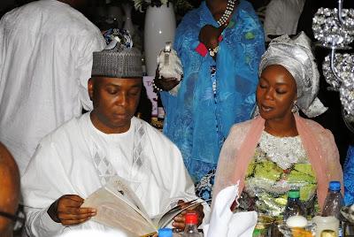 Image result for Bukola Saraki and wife Toyin