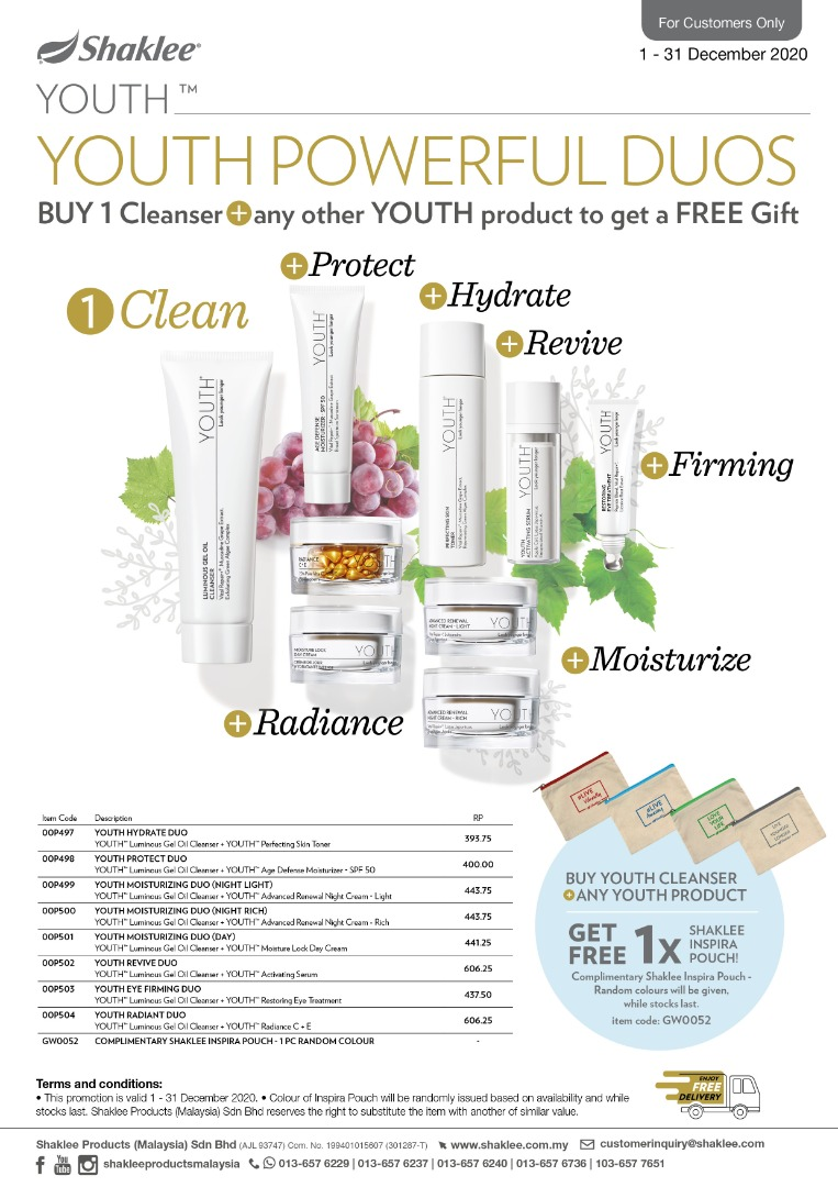 Testimoni Youth Skincare Shaklee, Youth Skincare Shaklee, Youth shaklee