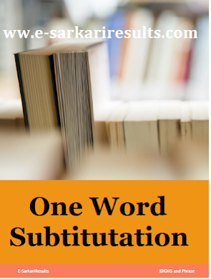1000 Important One Word Substitution