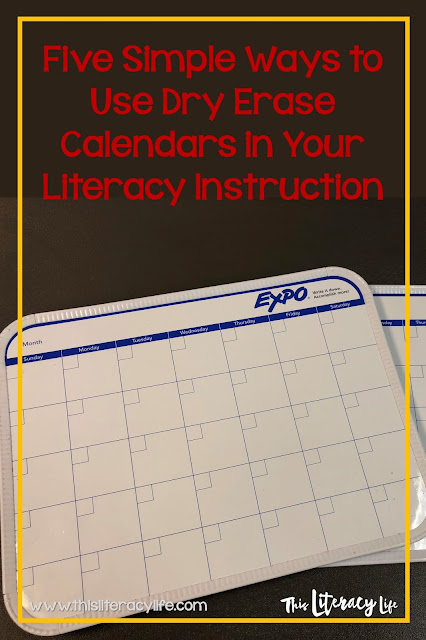 Many teachers use dry erase boards in their classrooms, but using dry erase calendars for literacy instruction can be life changing!