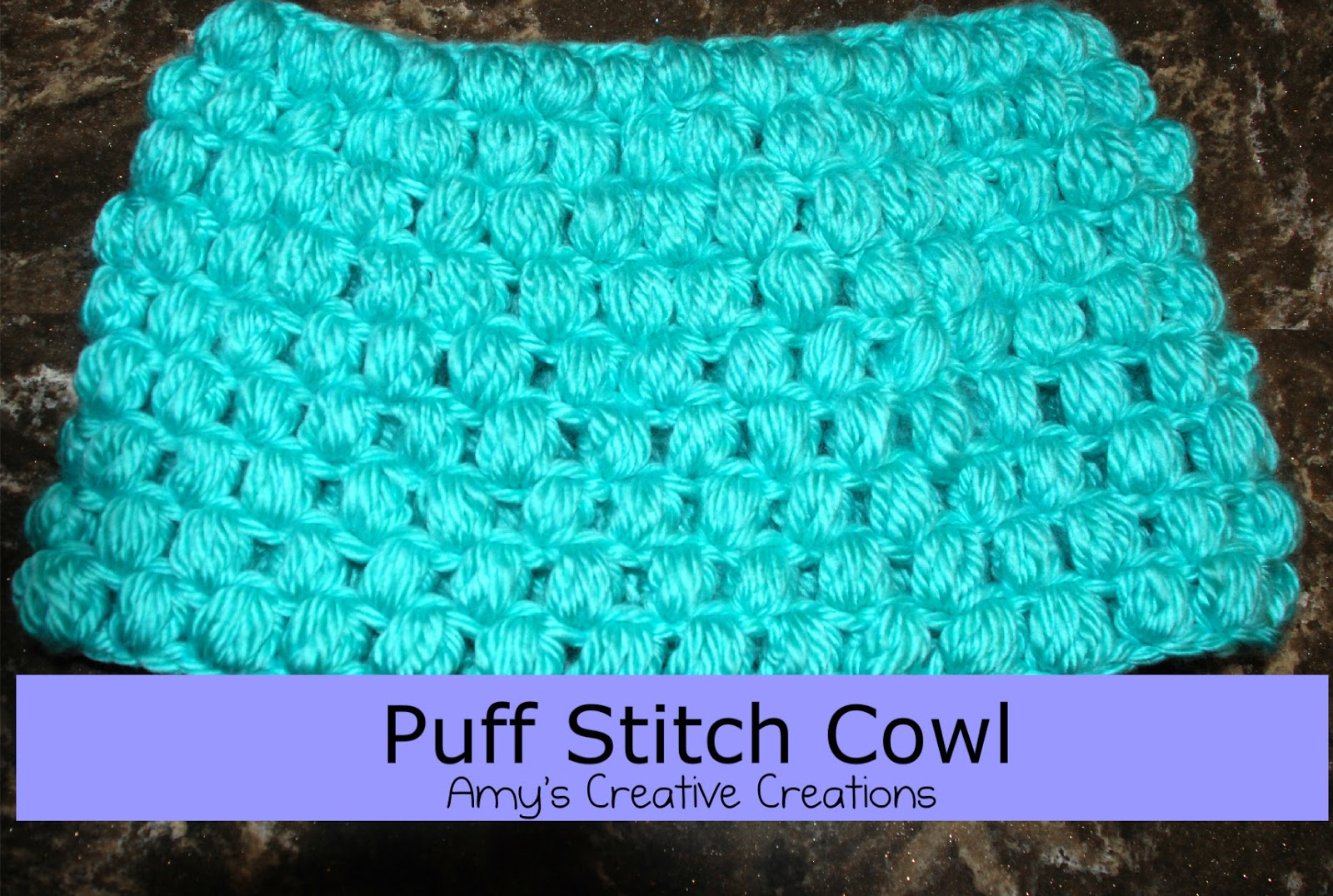 Crochet Stitches Video Puff : Amys Crochet Creative Creations: Crochet Puff Stitch Cowl