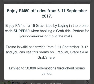 Grab Promo Code Malaysia September 2017